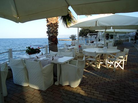 Strandrestaurant des Hotel Glaros Beach